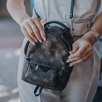 LV Louis Vuitton classic small backpack fashion lady school bag