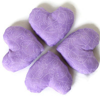 Violet Heart Shaped Bean Bags Purple Girl's Toy Party Favor (set of 4) - US Shipping Included
