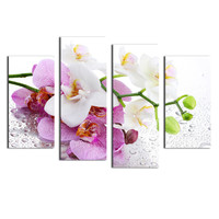 2016 Oil Painting 4 Pcs (no Frame) Flowers Wall Art Picture Modern Home Decoration Living Room Or Bedroom Canvas Print Painting