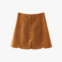 Brown Oh So Fine Suede Mini Skirt
