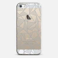 Abstract Lines Grey Transparent iPhone 5s case by Project M | Casetify