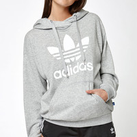 adidas Heather Gray Trefoil Pullover Hoodie at PacSun.com