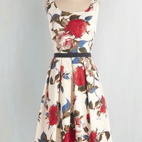 50s Long Sleeveless Fit & Flare Greenhouse Grandeur Dress by ModCloth
