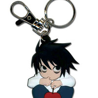 """Death Note: """"Keyring (Die-Cut) - L Crouched (GE3987)"""" : TokyoToys.com: UK Based e-store, Anime Toys Retail & Wholesale, Manga Action Figures,  Hentai Statues, Japanese Snacks, Pocky, DVDs, Gashapon,  Cosplay, Monkey Shirt, Final Fantasy, Bleach, Naruto, De"""