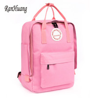 New 2017 Women Casual Canvas Backpack Candy Color Waterproof Backpack School Bags For Teenagers Girls mochila feminina A310