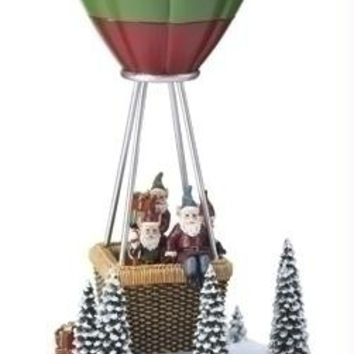 """Hot-air Balloon Elves - Santa's Elves Go Up And Down In Their Hot Air Balloon As The Song  """" We Wish You A Merry Christmas """"  Plays"""