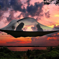 Camping Tree Tent -  Connect Hanging Hammock outdoor survivor portable mosquitoe hammock