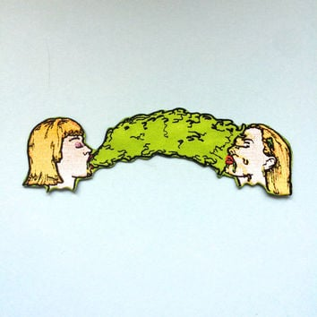 """BARF BUDS 6"""" long Iron on Back Patch"""