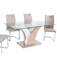Modern Italian Metal Glass Dining Table or Chairs