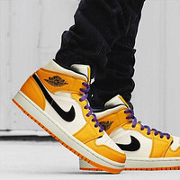 Air Jordan 1 Mid fashion all-match casual sneakers shoes