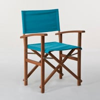 Pagoda Blue Bali Club Chair Canvas | World Market