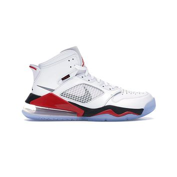 Air Jordan Men's Mars 270 White Fire Red Basketball Shoes