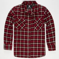 Elixir Rooster Boys Flannel Shirt Red  In Sizes