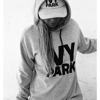 Women Letter Casual Hoodie Top Sweater