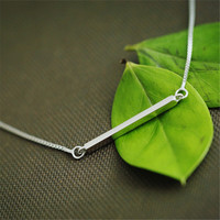 Bar 925 Sterling Silver Necklace