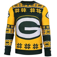 Green Bay Packers Forever Collectibles KLEW Big Logo Ugly Sweater Sizes S-XXL w/ Priority Shipping