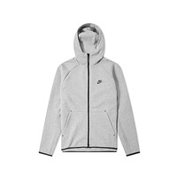 Nike Men's Sportswear Tech Fleece Full Zip Hoodie Heather Grey Black