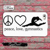 Gymnastic love cute Custom iPhone 4 and 4s Case and Custom iPhone 5 and 5s and 5c Case