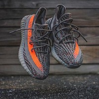 Yeezy Hot  Adidas  550 Boost 350 V2 Grey Orange