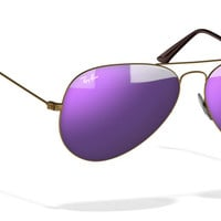 Look who's looking at this new Ray-Ban aviator large metal sunglasses