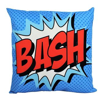 BASH | Anime | Fun Gifts | Pillow Cover | Home Decor | Superhero | Happy Birthday | Kids Room | Red Throw PIllow | Kids Decor | Room Decor