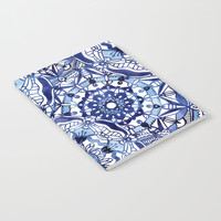 Delft Blue Mandalas Notebook by noondaydesign
