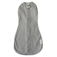 The Original Woombie Baby Cocoon Swaddle (Mega Baby (20-25 lbs), Heathered Gray)