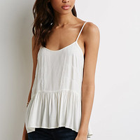 Eyelash Lace-Trimmed Cami