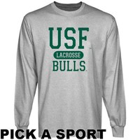 South Florida Bulls Ash Custom Sport Long Sleeve T-shirt -