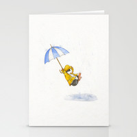 Puddle Jumping Stationery Cards by When Guinea Pigs Fly