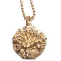 Jewelry by Atlantis - 14k Yellow Gold Diamond Tree of Life