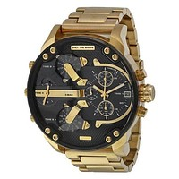 Diesel Men Fashion Trending Quartz Watches Wrist Watch Golden+Black+Golden G