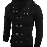Multi-Button Double-Breasted Long Sleeve Jacket