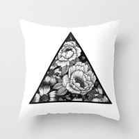 Triangle Throw Pillow by Adroverart