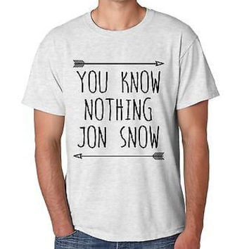 You Know Nothing Jon Snow Game Of Thrones Men's T-Shirt