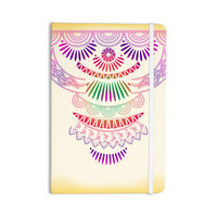"""Famenxt """"Decorative Ornament"""" Yellow Multicolor Everything Notebook"""