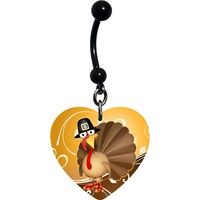 Pilgrim Turkey Thanksgiving Belly Ring