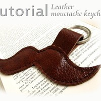 Leather moustache keychain Tutorial PDF by katrinshine on Etsy