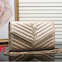 Perfect YSL Women Shopping Leather Crossbody Shoulder Bag Satchel