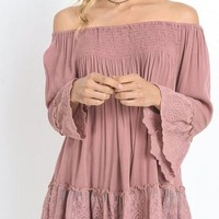 Grace with Lace Off Shoulder Knit