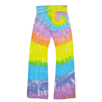 Pastel Spiral Tie Dye Yoga Pants on Sale for $32.00 at HippieShop.com