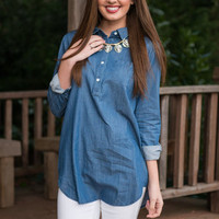 Until The End Top, Chambray