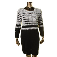 Calvin Klein Womens Knit Long Sleeves Sweaterdress