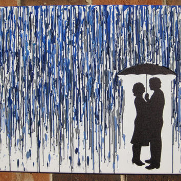 Custom Melted Crayon Art with Your Silhouette by lightandspoon