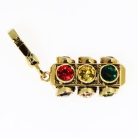 Juicy Couture Gold Plated Traffic Light Handbag or Bracelet Charm YJRUO317