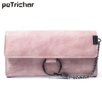 New Fashion Leather Hasp Clutch Wallets Portable Purse Vintage Solid Long Wallet Soft PU Leather Coin Phone Pocket Feminina Bags