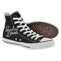 Panic at the disco Shoes,High Top,canvas shoes,Painted Shoes,Special Christmas Gift,Birthday gift,Men Shoes,Women Shoes