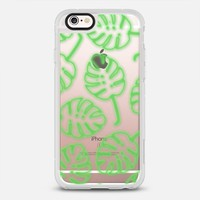 Neon Sign Palm Leaves -- Tropical Leaf Transparent iPhone 6s case by Samantha Ranlet | Casetify