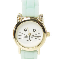 Kitty Rubber Watch | Shop Jewelry at Wet Seal