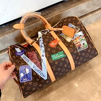 LV simple men and women large capacity printed travel bag